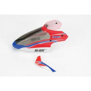 (BLH3518) - Complete Red Canopy with Vertical Fin: mCP X