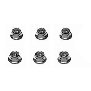 ( YEL12043) - YellowRC Flange Lock Nut M3 (6pcs)