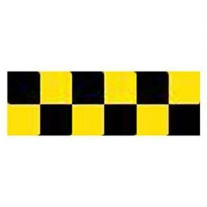 Top Flite Trim MonoKote Check Black/Yellow