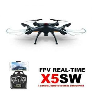 Syma X5SW Drone WiFi FPV Realtime 2.4G (HD CAM) Black