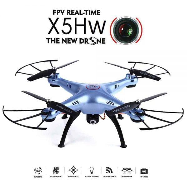 Syma X5HW Drone WiFi FPV Realtime HD Camera 6Axis (Λευκό)